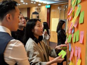 <VOCAL MIDDLE 內部的 workshop 中持續討論數位轉型相關議題,促發全體對相關資訊的探索>