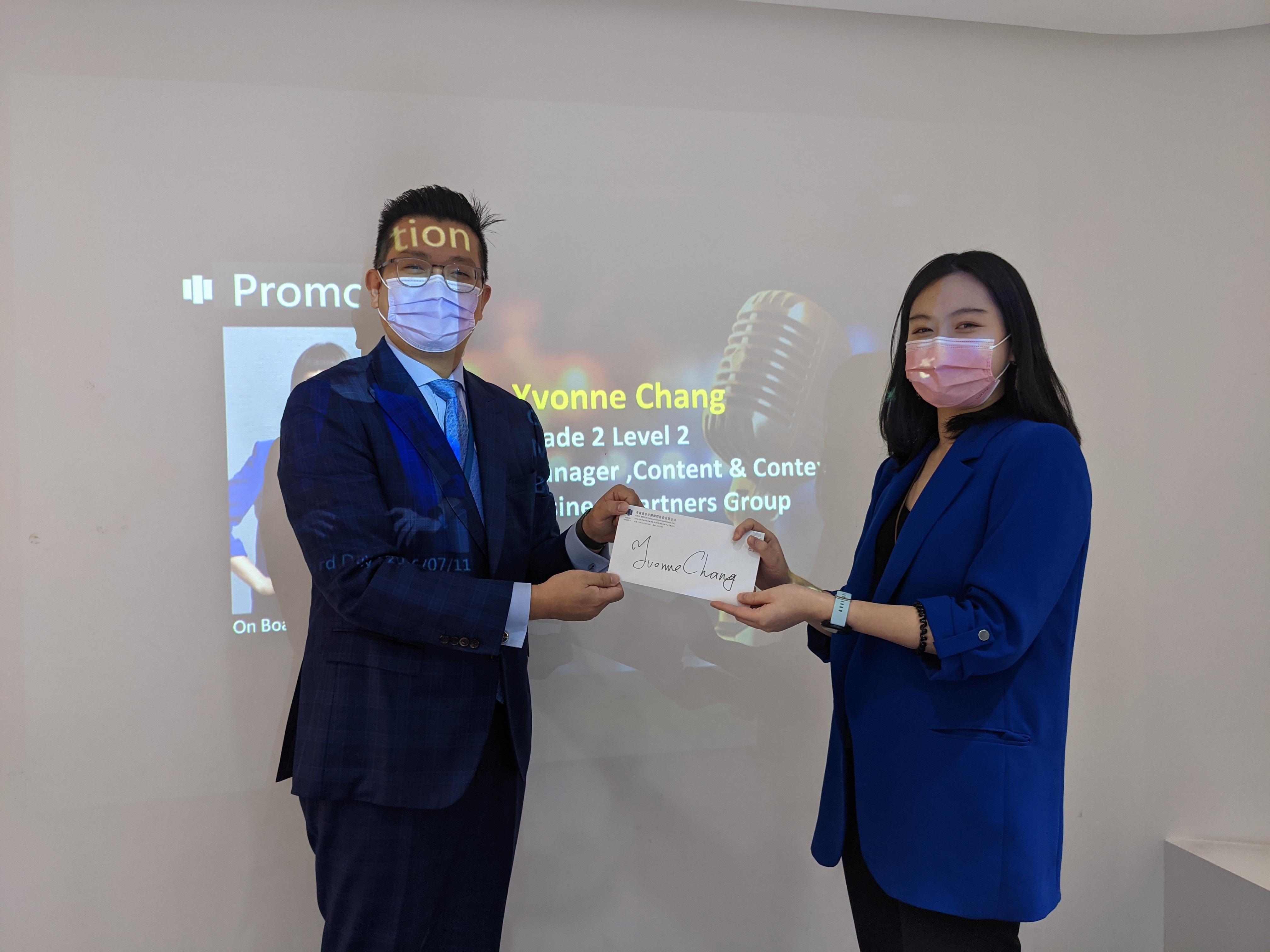 【人事快報】恭喜夥伴 Yvonne Chang  晉升策士事業群經理一職